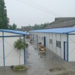 Temporary shelters provided by the Provincial Government shortly after the earthquake 2