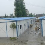 Temporary shelters provided by the Provincial Government shortly after the earthquake